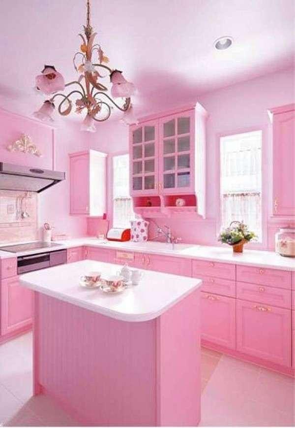 10 magnifiques cuisines roses qui feront craquer les filles super d co page 6. Black Bedroom Furniture Sets. Home Design Ideas