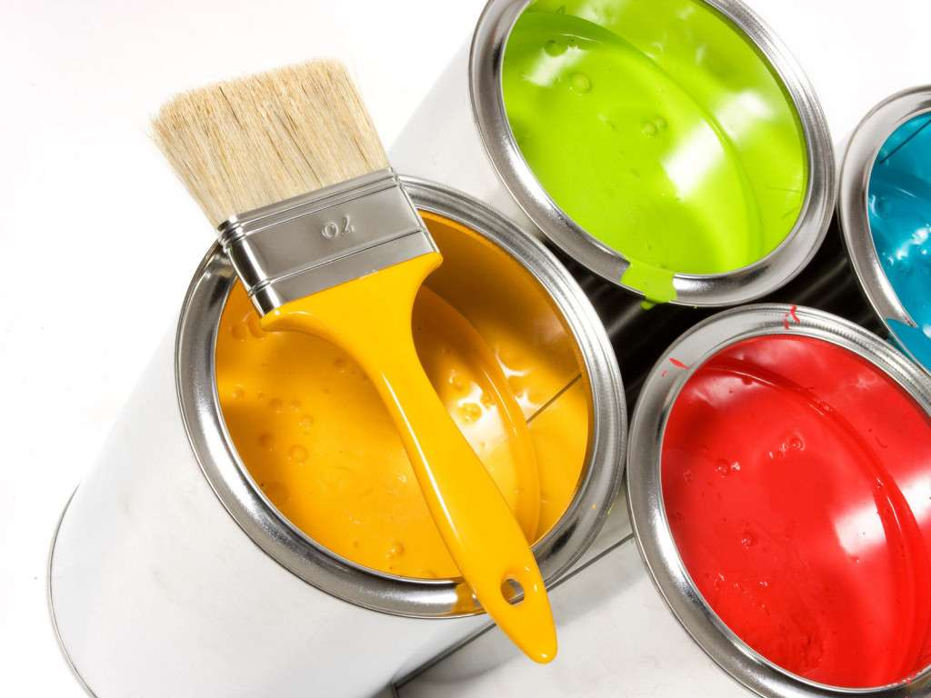 Pots de peinture de couleur