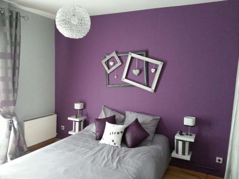 D coration de chambre avec couleur prune super d co for Deco salon prune