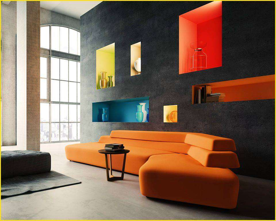 25 niches murales absolument magnifiques super d co page 2. Black Bedroom Furniture Sets. Home Design Ideas