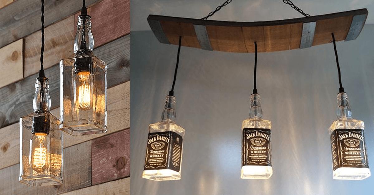 comment faire une lampe avec une bouteille de whiskey super d co. Black Bedroom Furniture Sets. Home Design Ideas