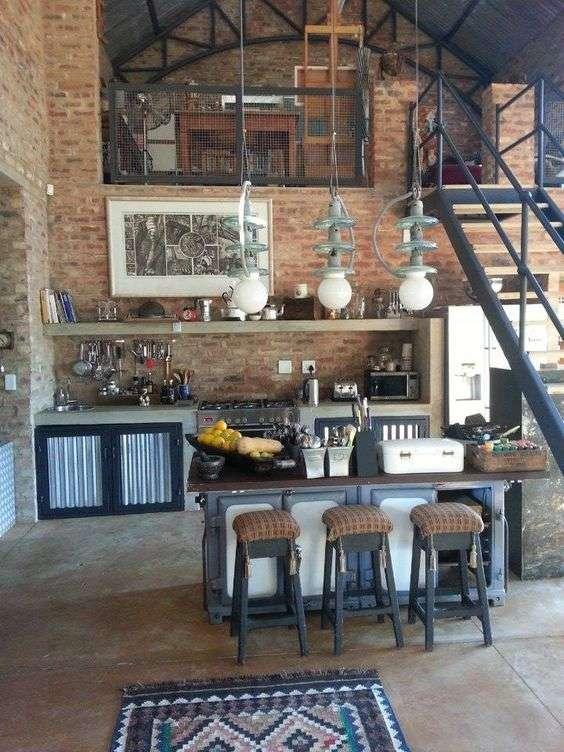 cuisine loft deco 6 super d co. Black Bedroom Furniture Sets. Home Design Ideas