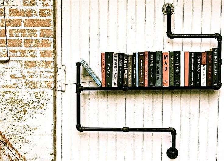 Bibliothèque tuyaux en métal
