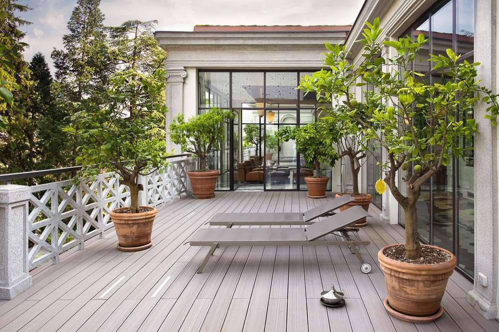 Terrasse en bois arboree