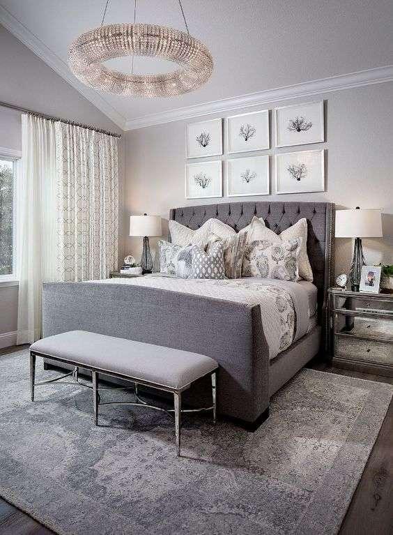 Chambre grise : 25 idées simples pour une déco incroyable ...