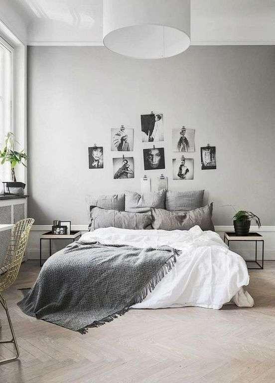 Chambre Grise : 25 Idées Simples Pour Une Déco Incroyable ! Super Déco. Deco  Chambre Lit Noir
