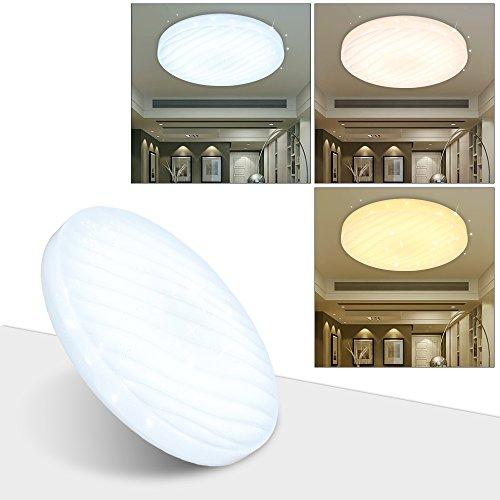 VGO® 12W LED plafond étoilé ciel étoilé avec fonction de Variable Couleur Changeante 3in1 salon plafond éclairage salle de bain approprié [classe énergétique A ++]