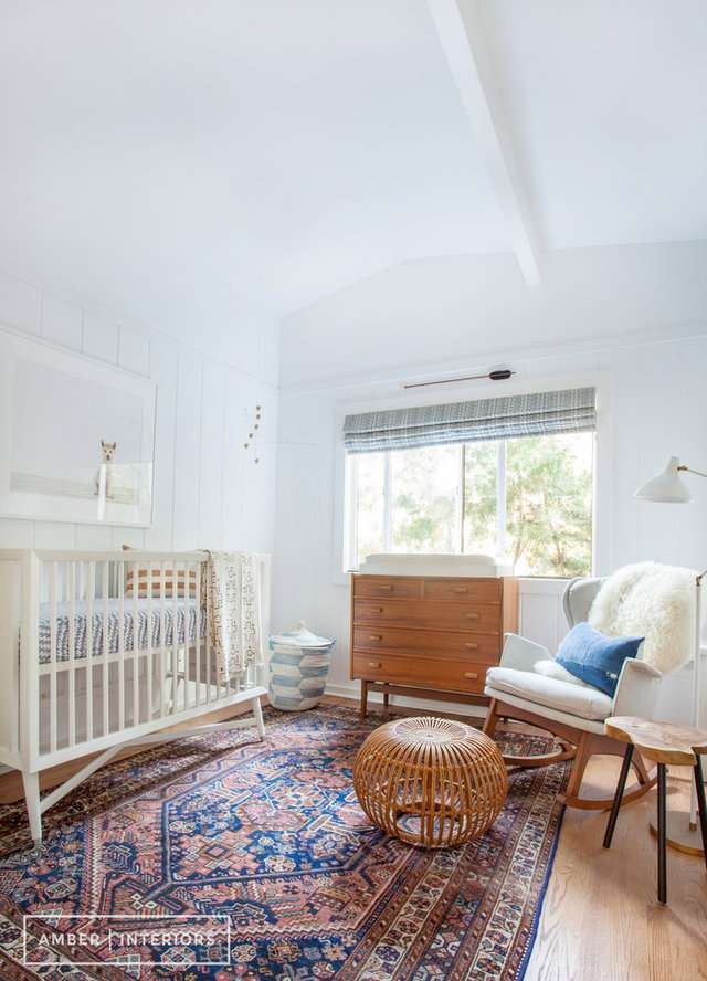 Chambre de bébé avec des matières organiques