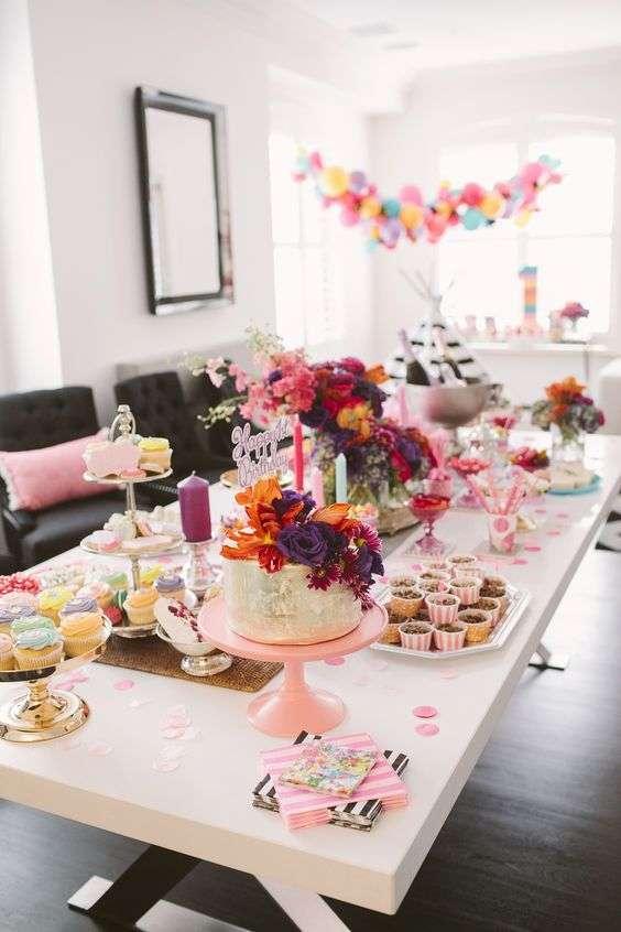 Table d'anniversaire petite fille 1 an