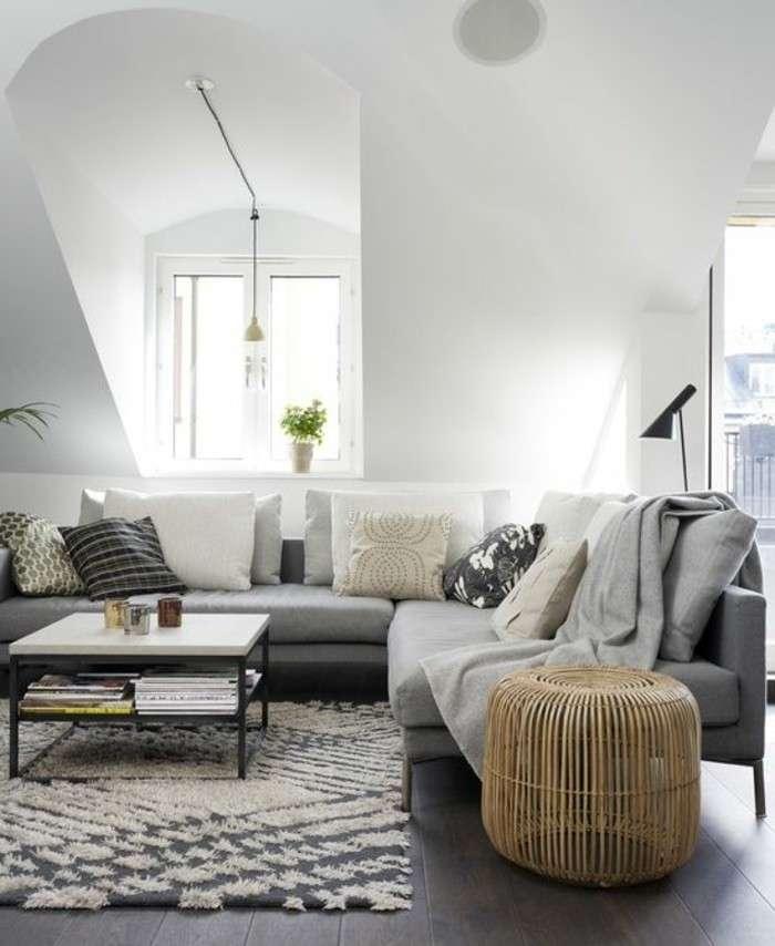 Canapé d'angle sous pente