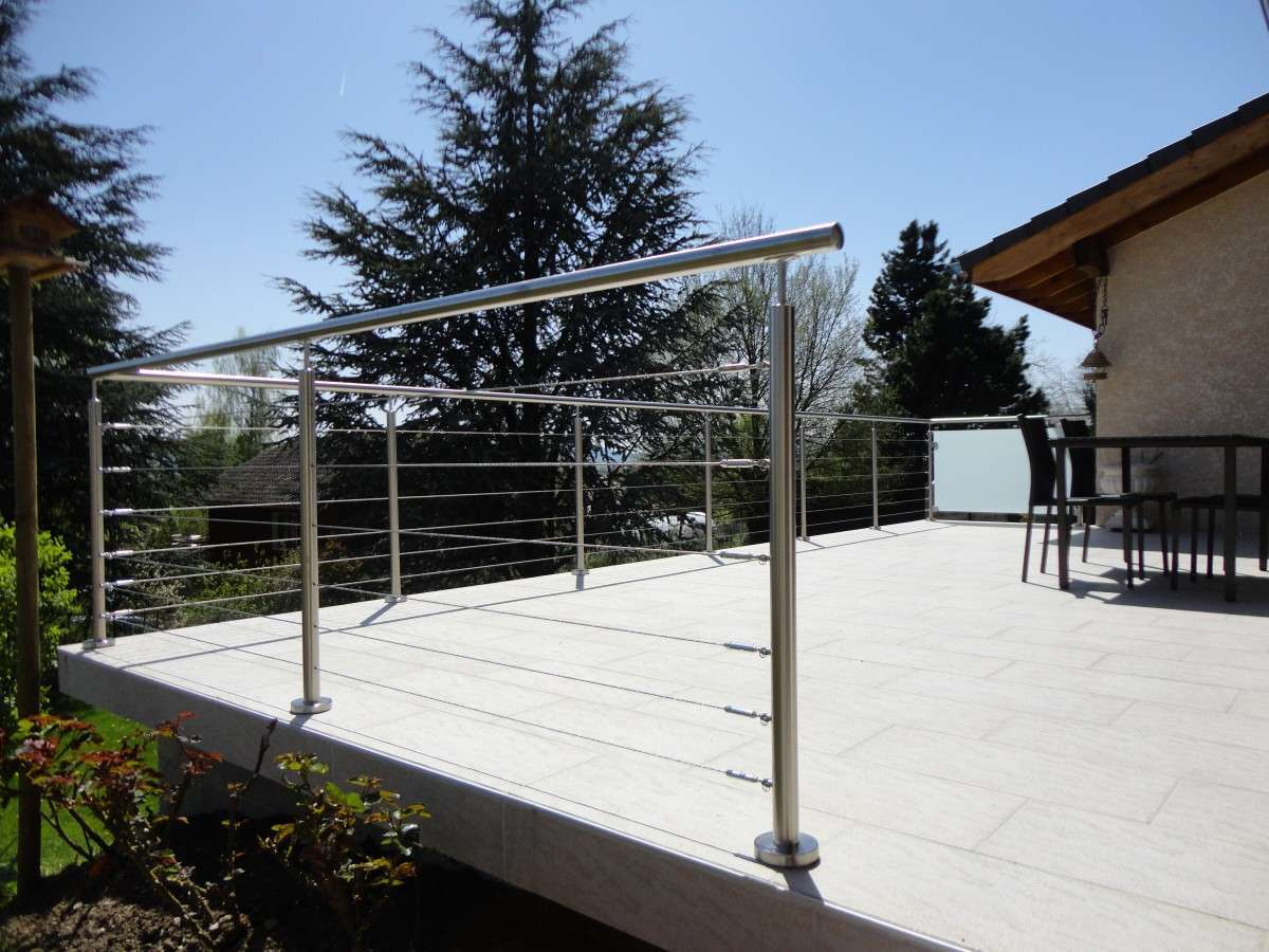 Garde corps en inox pour terrasse