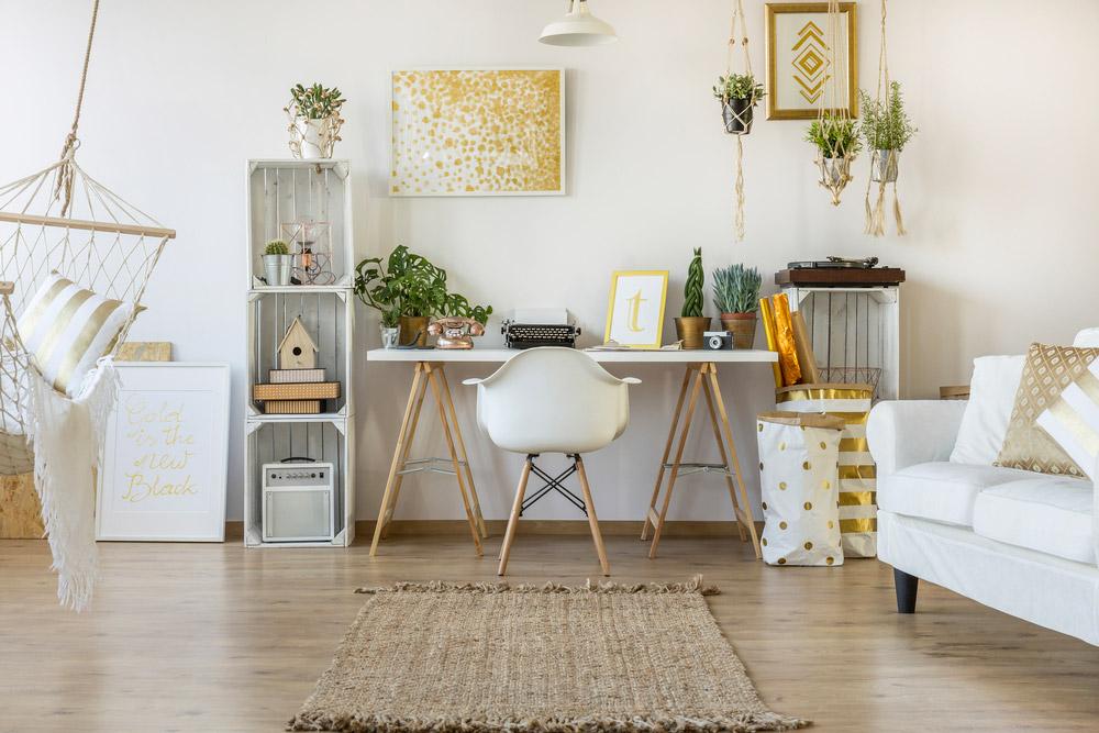Bureau avec une décoration scandinave