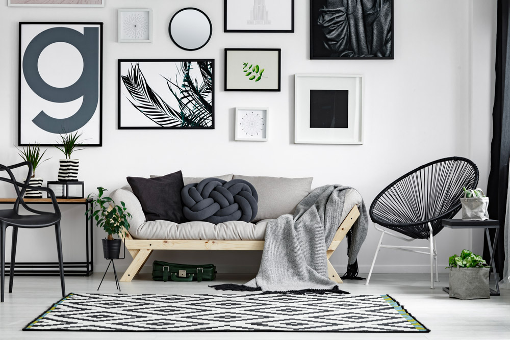 Salon gris tendance scandinave