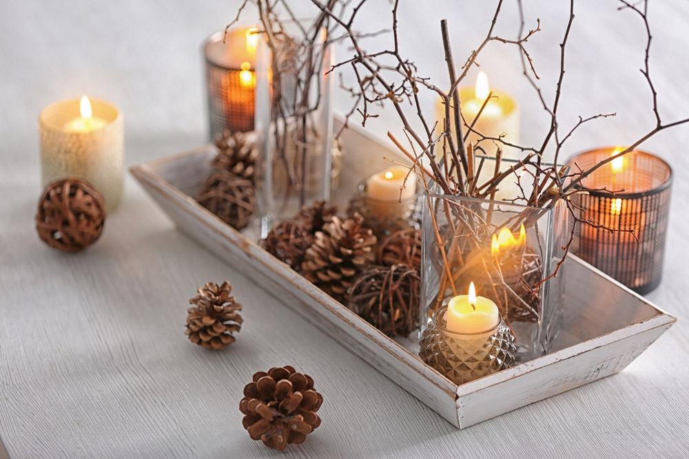 Déco de bougies naturelles
