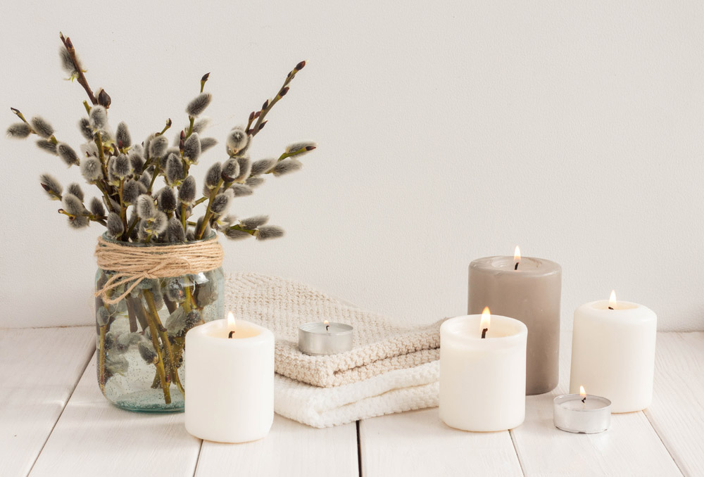 Ensemble de bougies naturelles